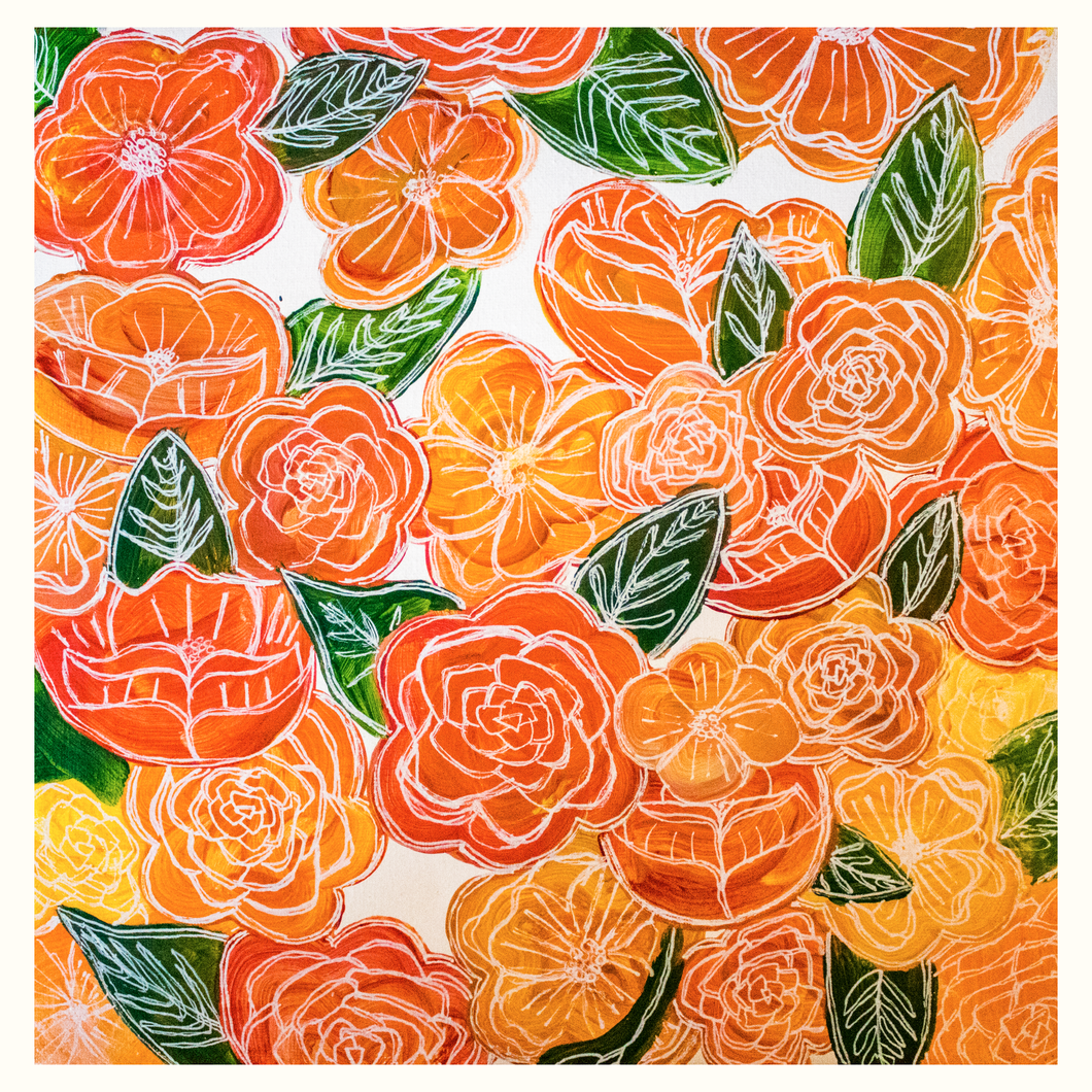 Red / Orange Floral Prints