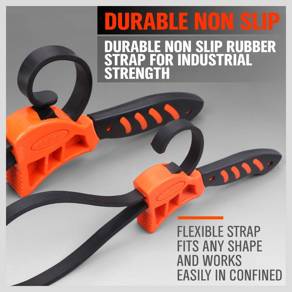 2-Piece Adjustable Strap Wrench