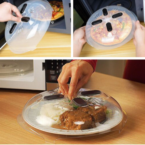 Microwave Food Cover - Hover Cover Splatter Guard