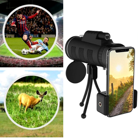 40x Zoom Telephoto HD Camera Lens for iPhone, Samsung and Android Smartphones