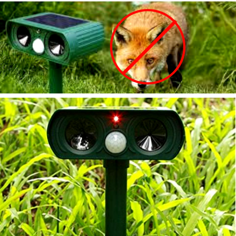Solar Powered Ultrasonic Animal Repellent