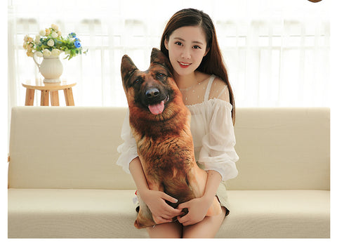 Cute Simulation Dog Plush Pillow