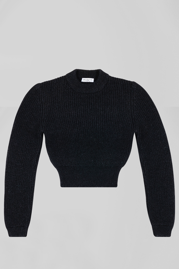 MOHAIR SHORT ROUND NECK SWEATER