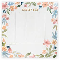 Oversized Floral Weekly List Pad