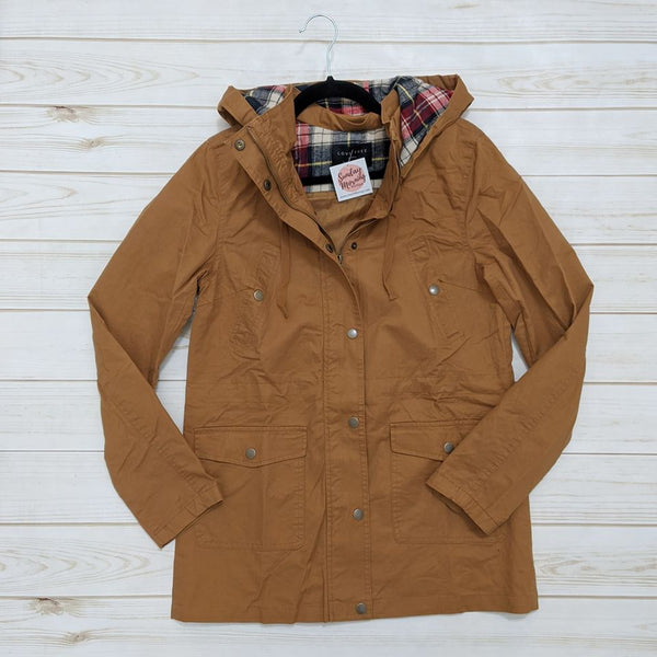 Flannel Contrast Hooded Jacket