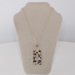 Animal Print Rectangle Pendant