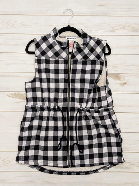Plaid Sherpa Lined Vest
