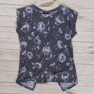 Plus Shadowbox Floral Back Overlay Top-Tops-Sunday Morning Boutique
