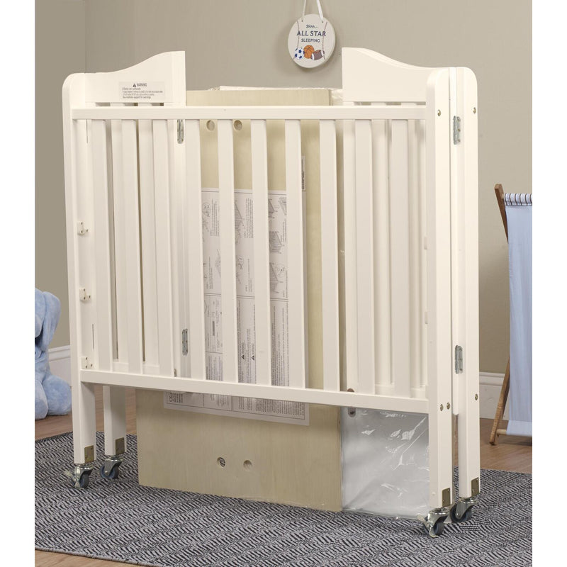 "Orbelle Noa (Curved) Mini Portable Crib + Free 3"" Mattress"