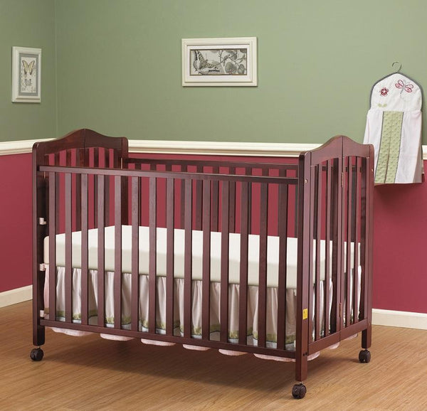 Lisa Full Size Folding Crib Cherry