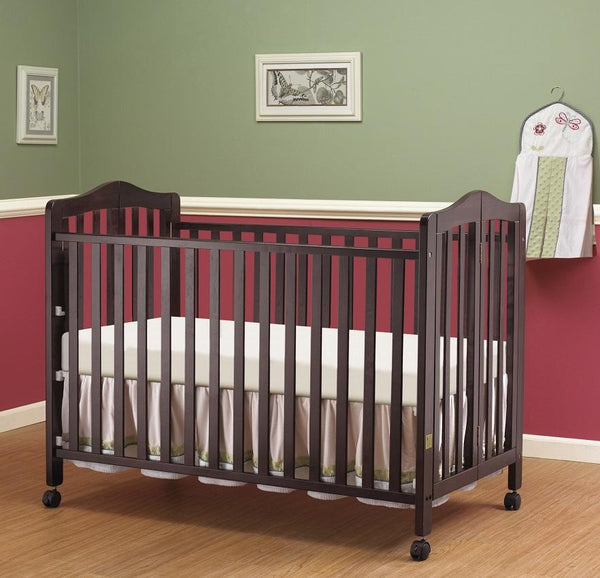 Lisa Full Size Folding Crib Espresso
