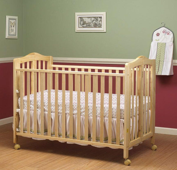 Lisa Full Size Folding Crib Natural