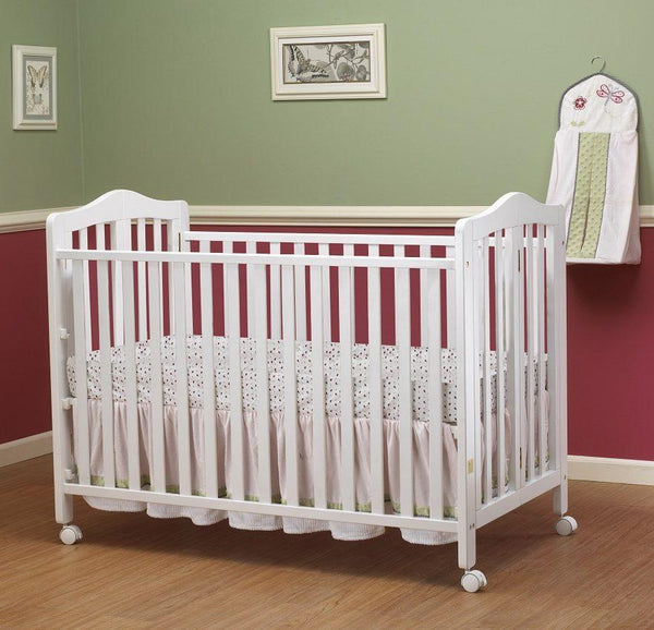 Lisa Full Size Folding Crib White