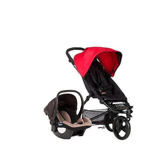 Mountain Buggy Mini Stroller and travel system: mini & protect capsule w/ latch base (USA)
