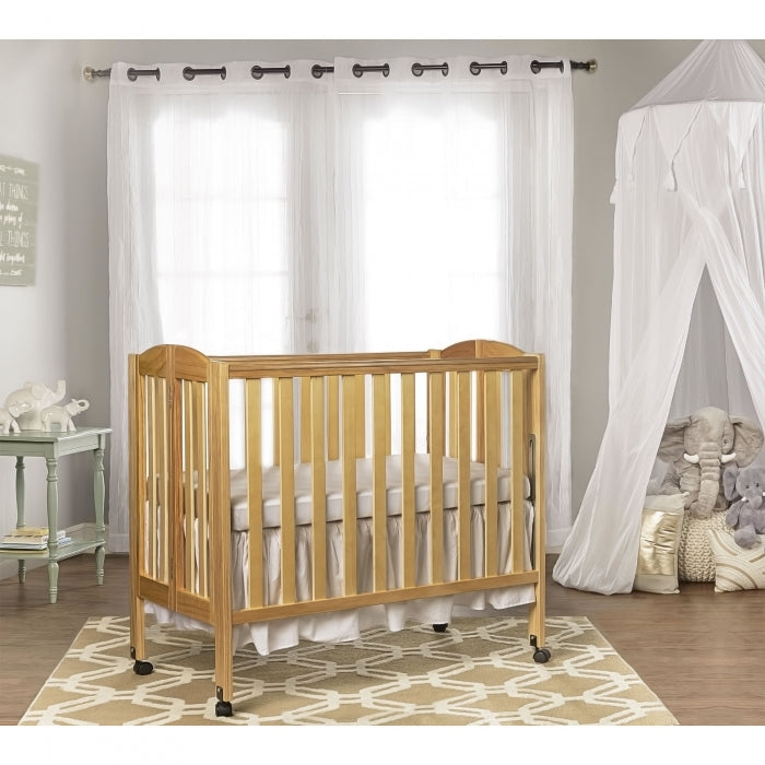 Dream On Me (Curved) 3 in 1 Folding Portable Crib + Free 3 ...