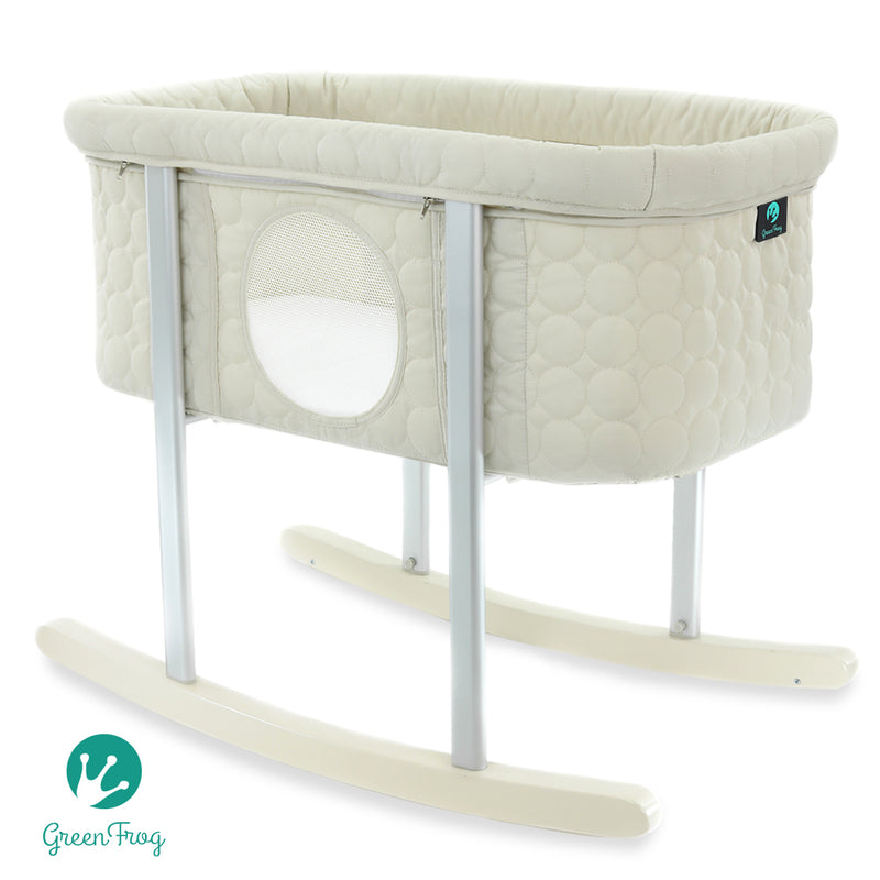Green Frog Lily Pod Portable Baby Bassinet Cradle