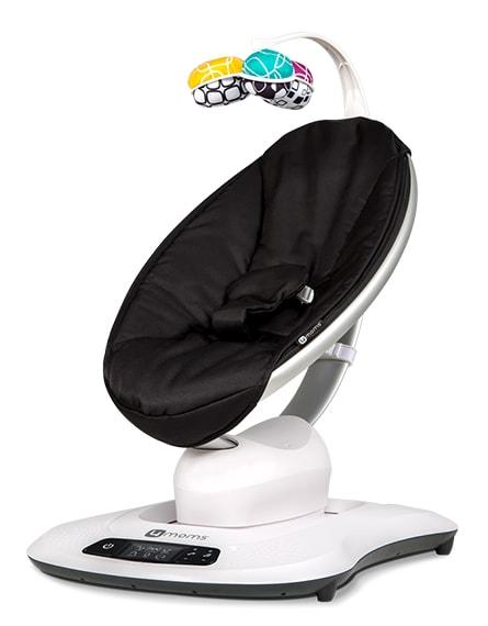 4moms mamaRoo 4 Infant Swing Seat Classic Black