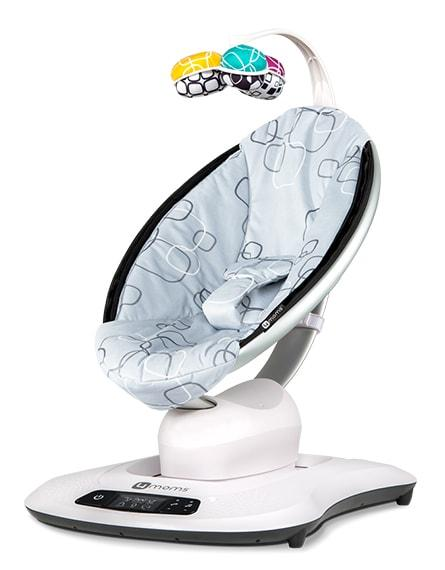 4moms mamaRoo 4 Infant Swing Seat Silver Plush