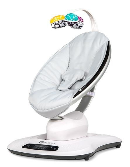 4moms mamaRoo 4 Infant Swing Seat Classic Grey