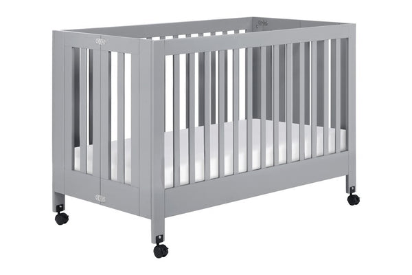 Maki Full Size Portable Folding Crib Grey