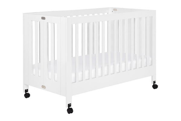 Maki Full Size Portable Folding Crib White