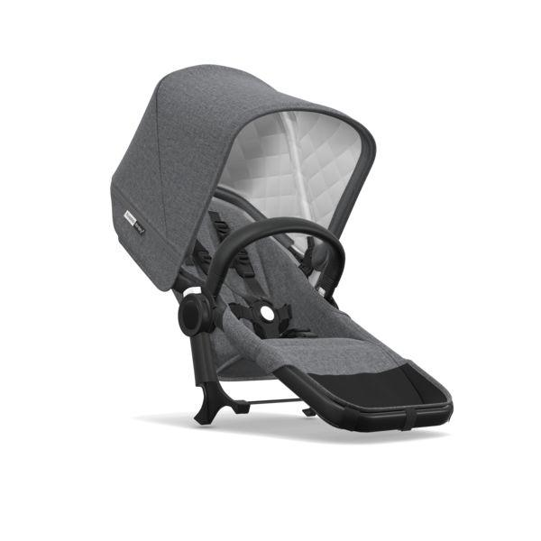 Bugaboo Donkey² Duo Extension Set Complete Classic: Black / Grey Melange
