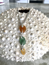 Three pieces of sea glass necklace