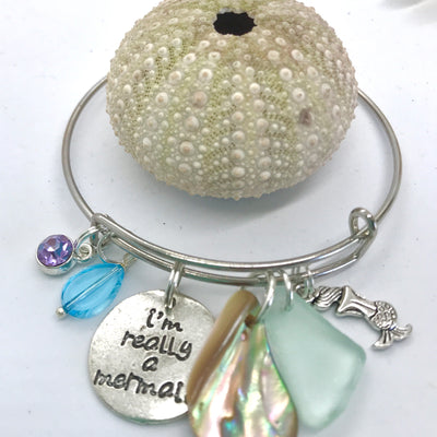 Mermaid sea glass bracelet