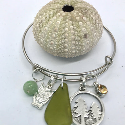 Mountains sea glass bracelet