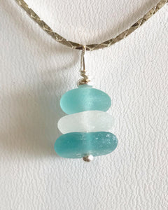 Stacked sea glass necklace