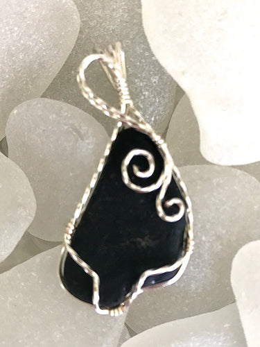 Extremely rare pirate (black) sea glass