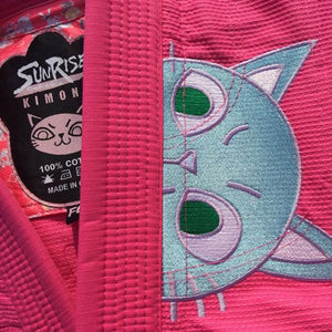 Women's Neko Cat Brazilian Jiu Jitsu Gi - For Ladies That Love Cats! - Sunrise 002 - Soldier Complex