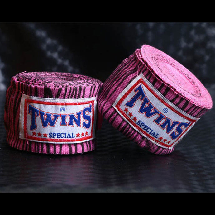 Pink Zebra Stripe Hand Wraps for Boxing, KickBoxing, Muay Thai and MMA - Twins - Soldier Complex