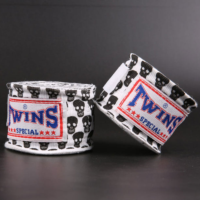 White Skull Hand Wraps for Boxing, KickBoxing, Muay Thai and MMA - Twins - Soldier Complex