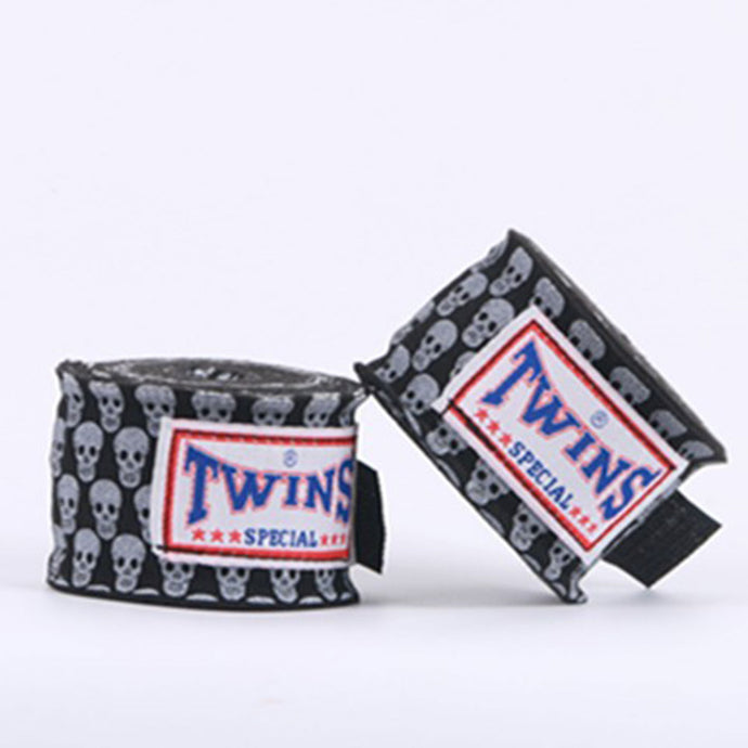 Black Skull Hand Wraps for Boxing, KickBoxing, Muay Thai and MMA - Twins - Soldier Complex