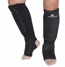 Yiai Sheng Shin Guards with Ankle Support - Synthetic Fabric - Soldier Complex