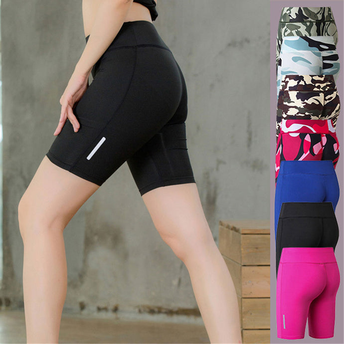 Women's High Waist Yoga Shorts - Linxport - Soldier Complex