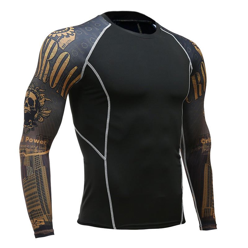 Critical Power Long Sleeve No Gi BJJ Compression Rash Guard for Jiu-Jitsu, MMA, Grappling and Wrestling - Soldier Complex