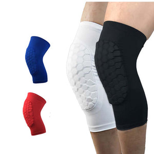1Pc Knee pad/Short Leg Sleeve Honeycomb pattern - Great Calf Support