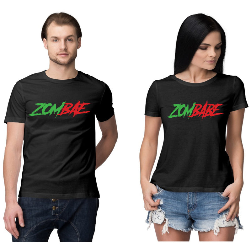 Zombae and Zombabe Couple T shirt