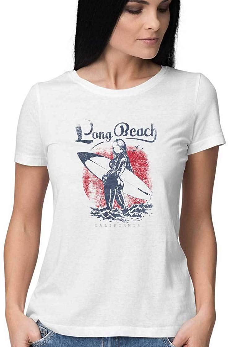 Long Beach wear White T Shirt