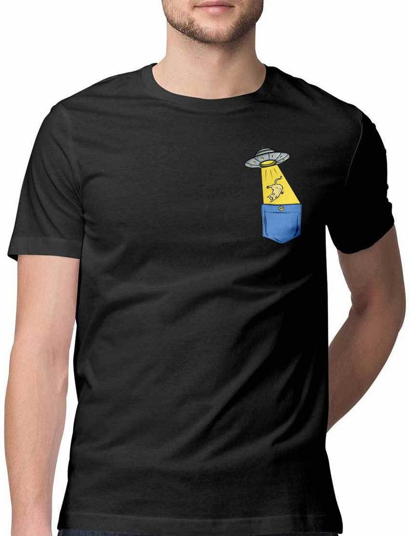 FALLEN FROM ALIEN CRAFT INTO VIRTUAL POCKET T SHIRT