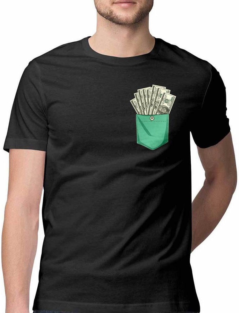 DOLLARS KEEPS SADNESS AWAY VIRTUAL POCKET T SHIRT