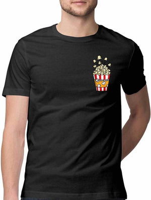 POPCORN LOVER VIRTUAL POCKET T SHIRT