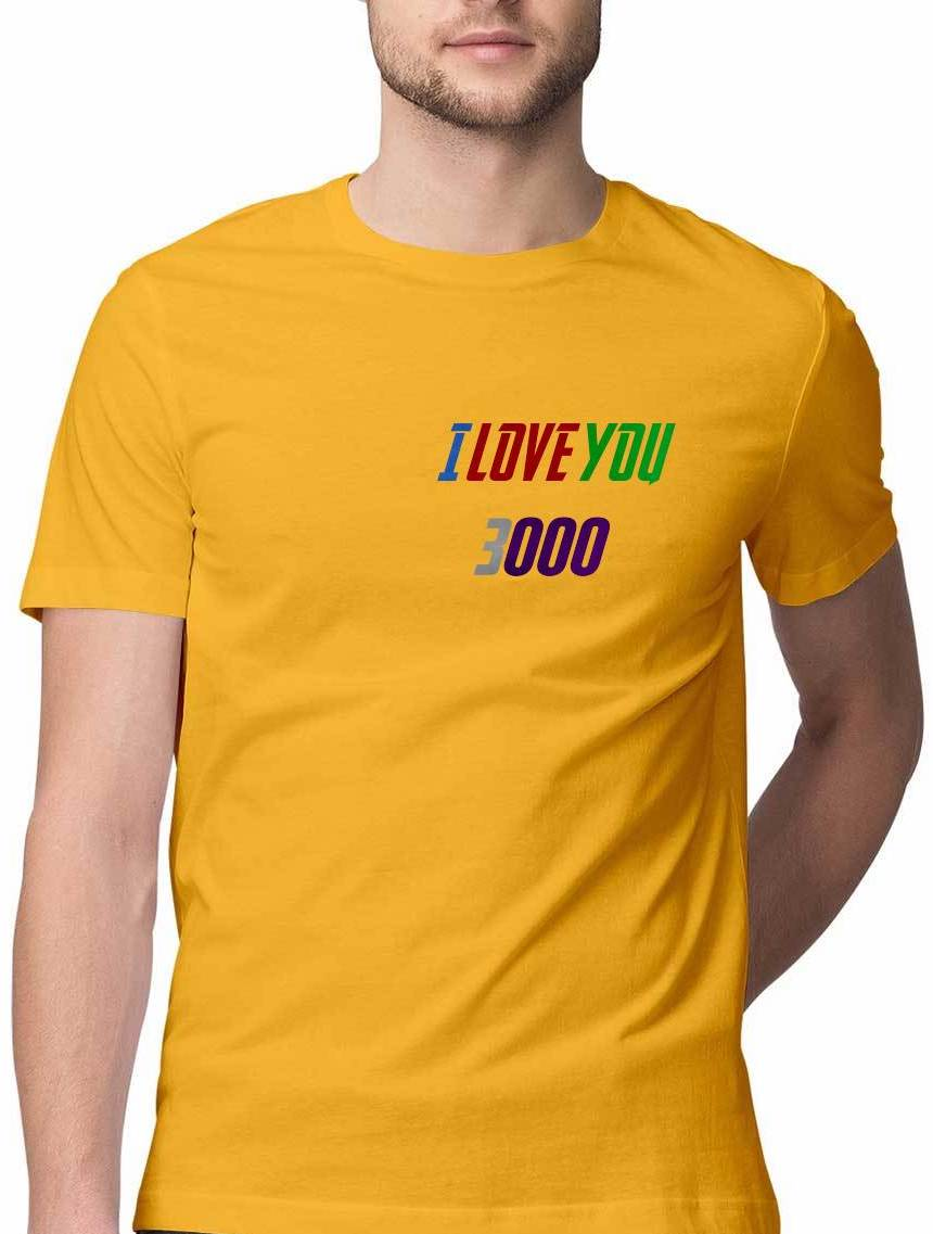 I LOVE YOU 3000 Miniature Print T shirt