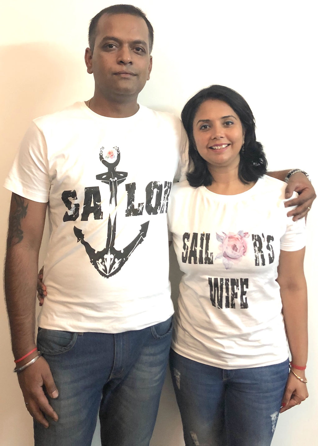 Sailor and His Wife Couple T shirt