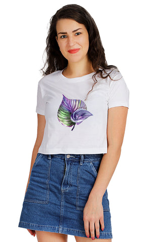Purple Frons Crop TOP