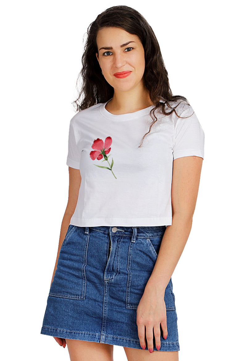 Red in Amore Pars Crop TOP