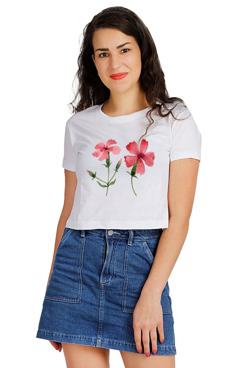 Florum FLOS simul CONCOLOR Crop TOP