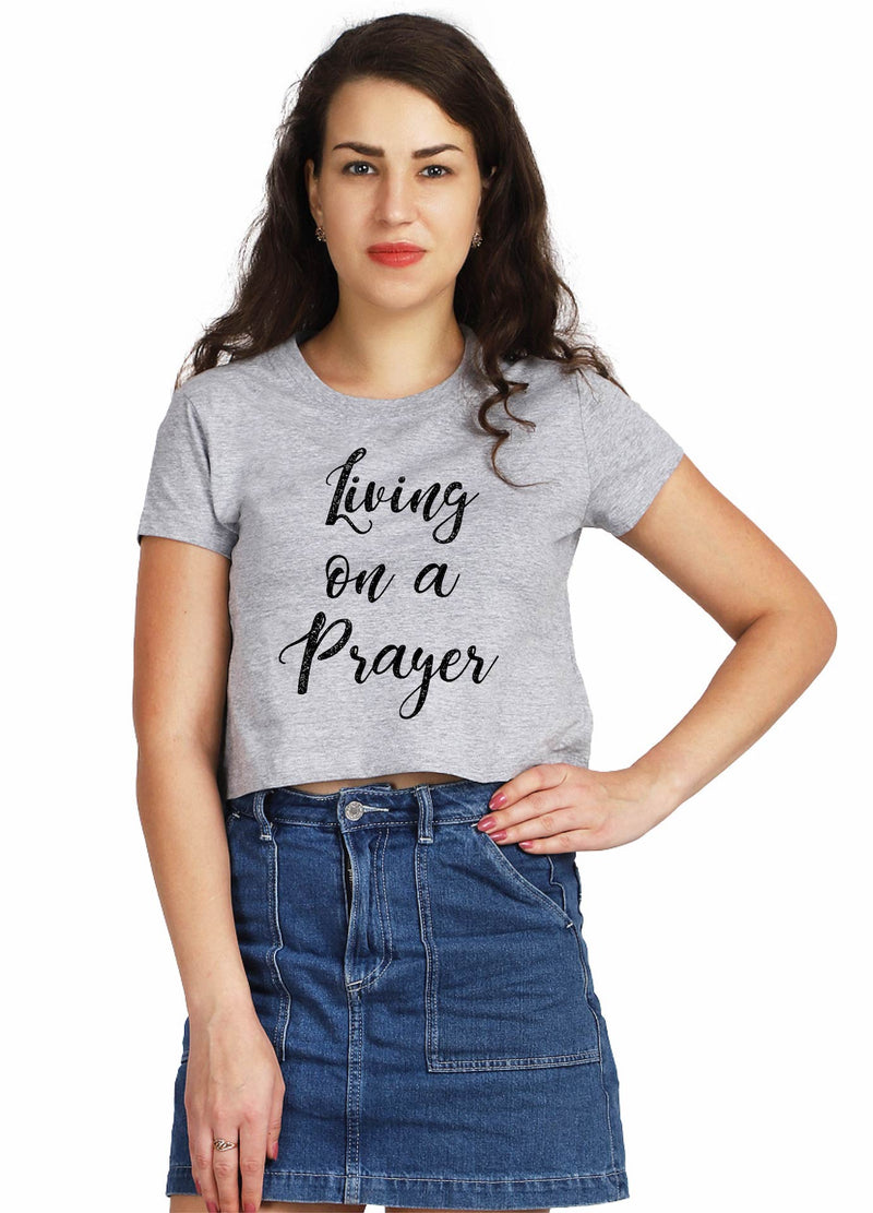 Living On A Prayer Crop Top